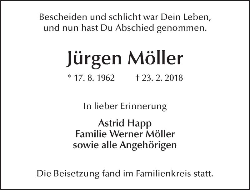 Traueranzeigen Von Jurgen Moller Trauer36 De